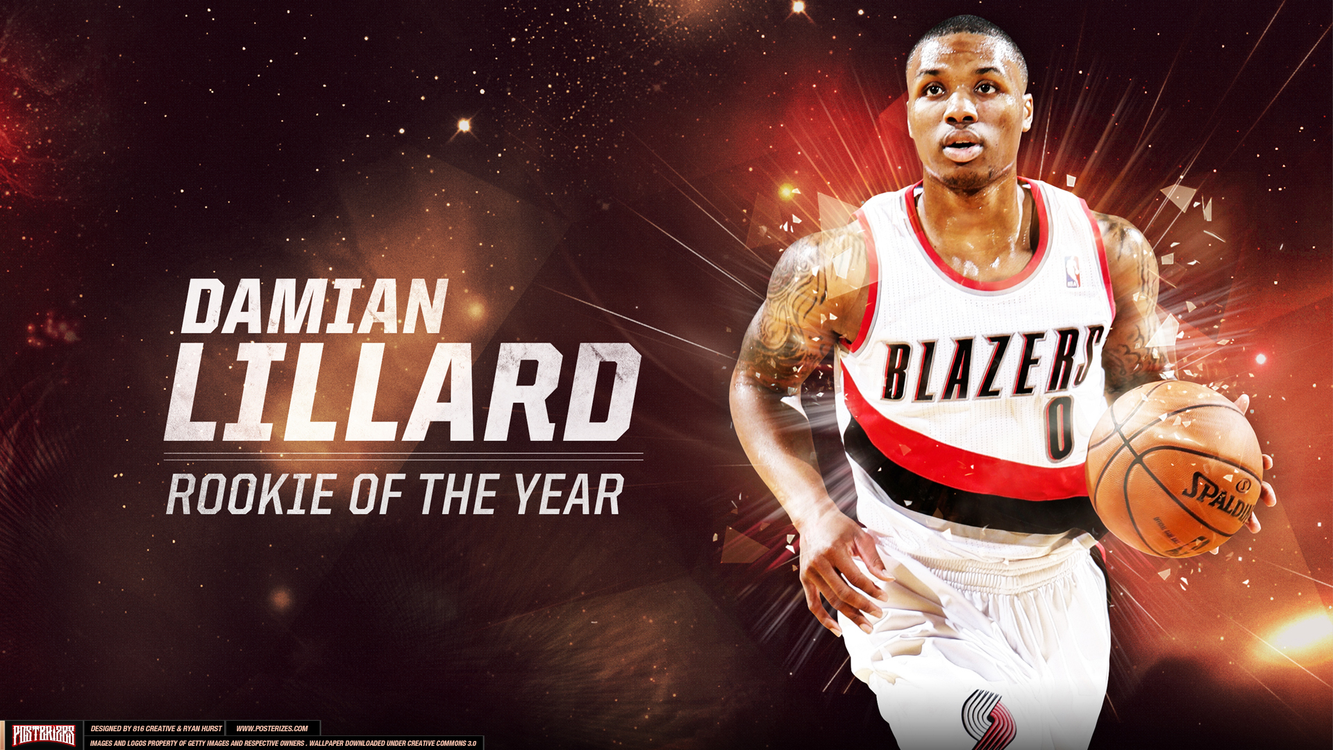 Damian Lillard Rookie of the Year Wallpaper HD Wallpaper