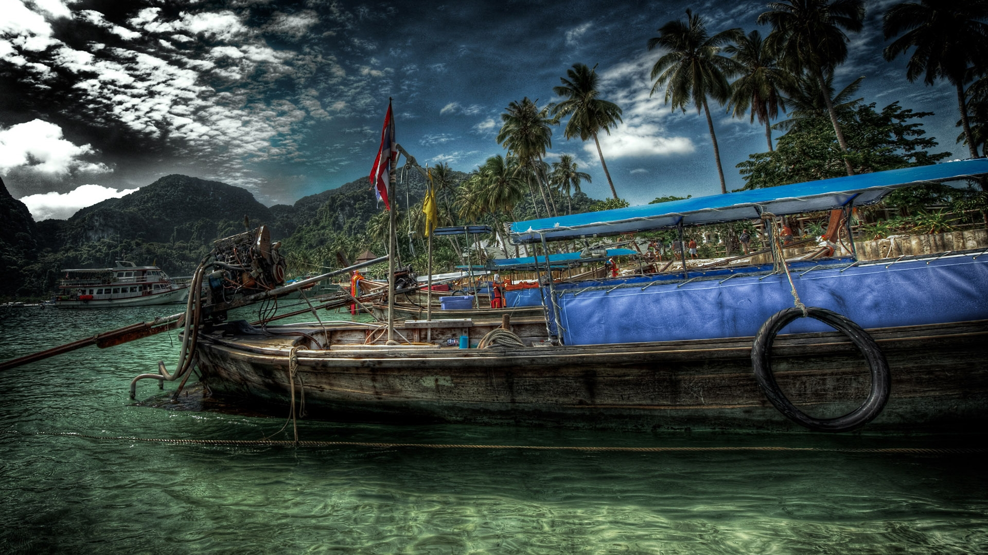 1920×1080 Boat desktop PC and Mac wallpaper Wallpaper