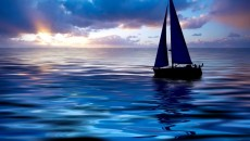 Download Sailing Boats wallpaper, \'sailing boat at sunset\