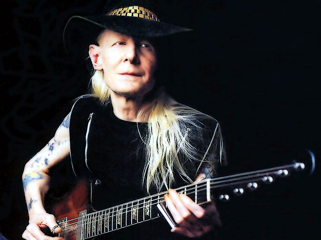 Johnny Winter Playing A Gibson Firebird Wallpa #47647 Hd