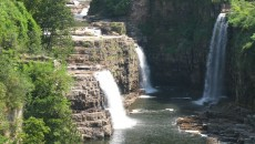 falls at Ausable Chasm. Here are views of it from the highway bridge