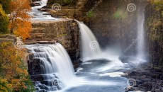 Ausable Chasm Waterfall, Adirondack mountains, Upstate New York. By
