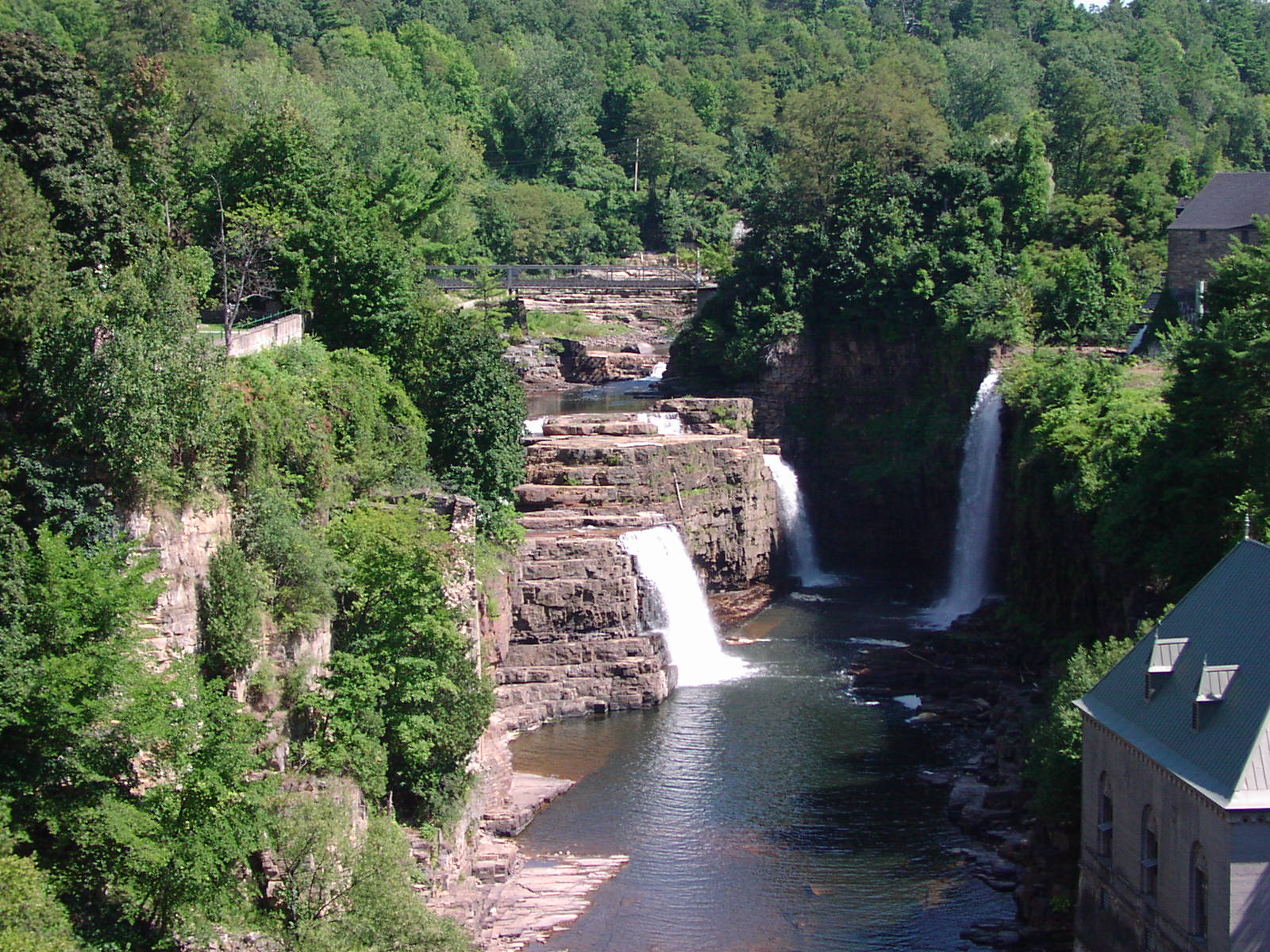Ausable Chasm at Keeseville Wallpaper
