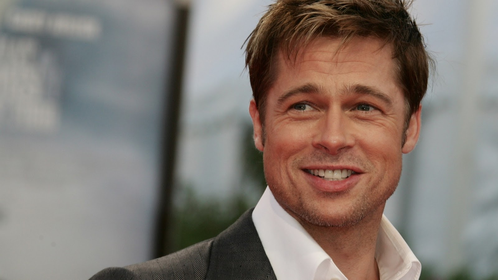 Brad Pitt new smiling HD Wallpapers Wallpaper