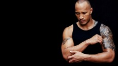 Wallpaper Dwayne Johnson, dwayne johnson, male, black T-shirt, tattoos