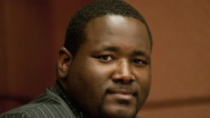 Quinton Aaron Quinton Aaron attends a press conference during the 5th