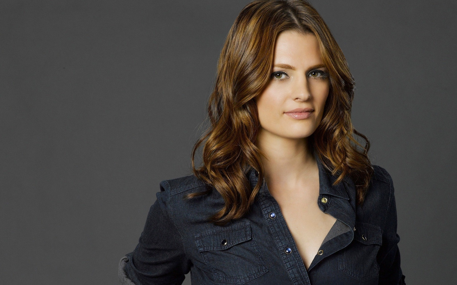 cool picture collection of actress Stana Katic. Download Stana Katic Wallpaper