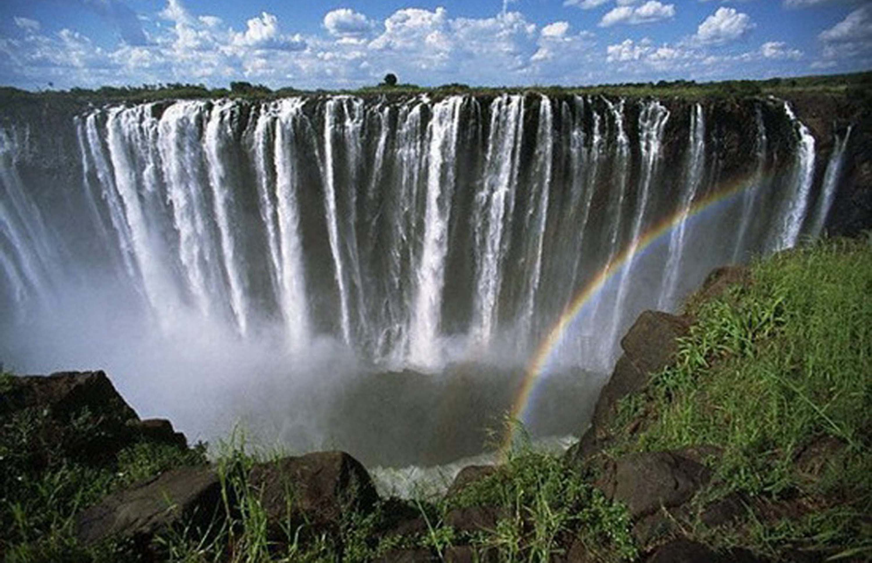 Fresh Victoria Falls Wallpaper HD Wallpaper