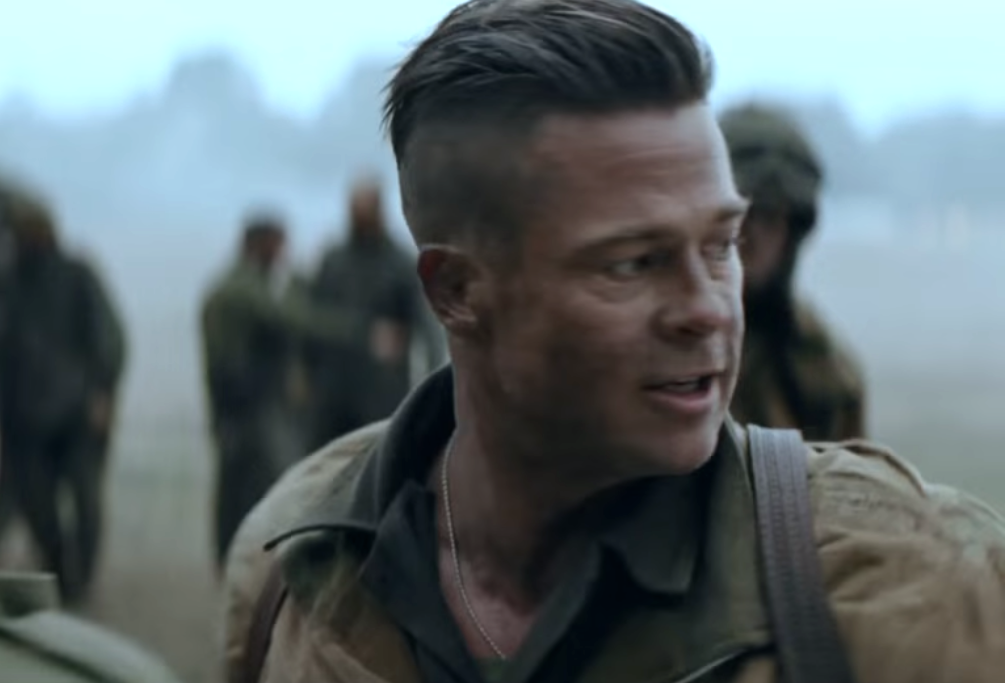 brad pitt fury hair - photo #6